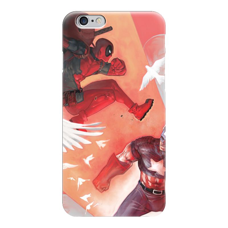 Чехол для iPhone 6 глянцевый Printio Deadpool vs captain america чехол для iphone 7 глянцевый printio vs boutique