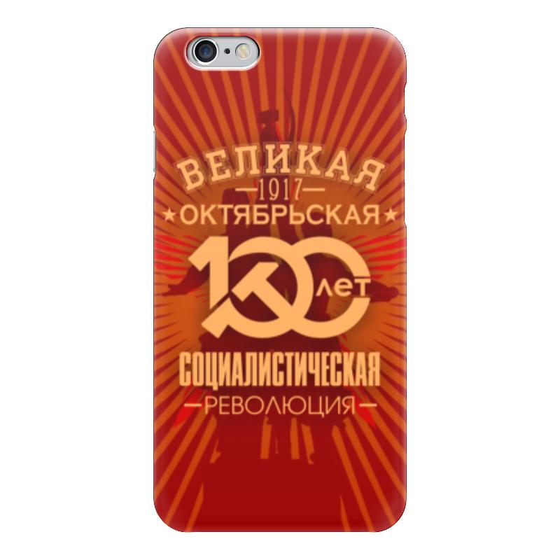 Чехол для iPhone 6 глянцевый Printio Октябрьская революция коврик для мышки printio октябрьская революция