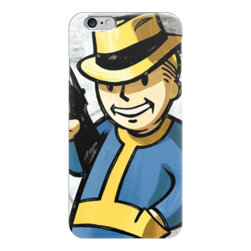 Чехол для iPhone 6 глянцевый Printio Vault boy (fallout)