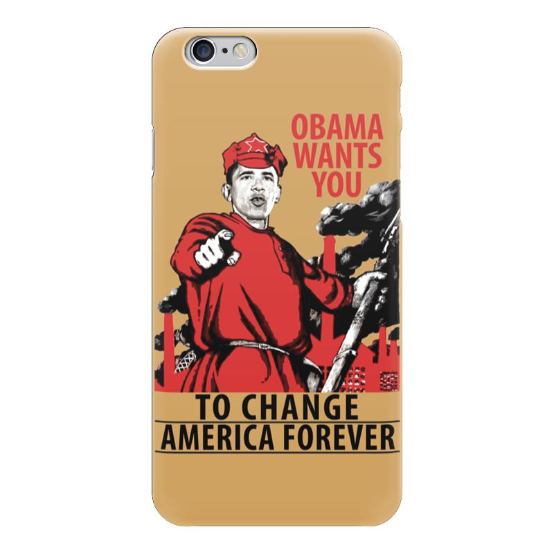Чехол для iPhone 6 глянцевый Printio Obama red army 110db loud security alarm siren horn speaker buzzer black red dc 6 16v
