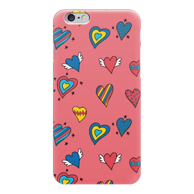 Чехол для iPhone 6 глянцевый Printio Heart doodles чехол для iphone 7 глянцевый printio sweet heart