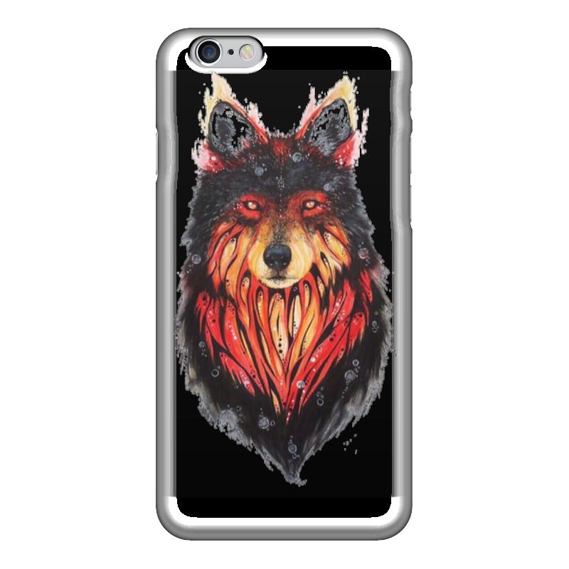 Чехол для iPhone 6 глянцевый Printio Огненный волк огненный меч верт