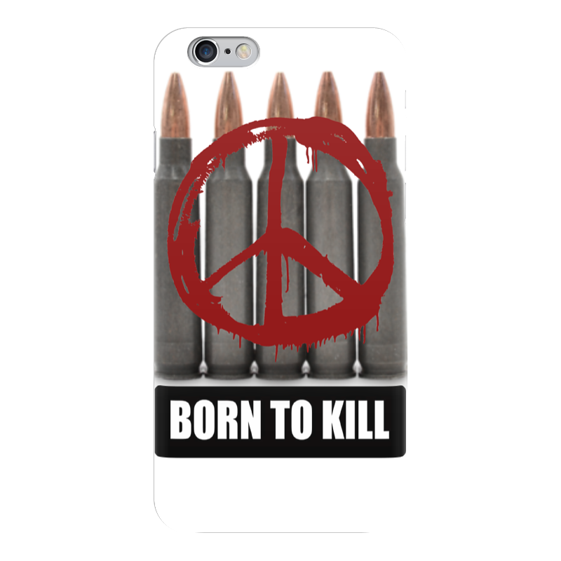 Чехол для iPhone 6 глянцевый Printio Full metal jacket case чехол для iphone interstep для iphone x soft t metal adv красный