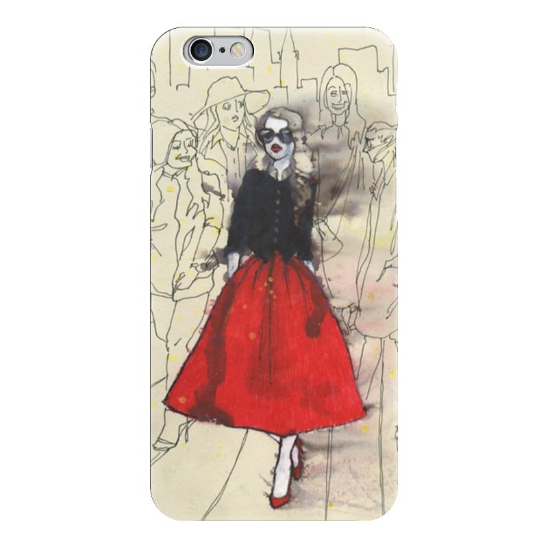 Чехол для iPhone 6 глянцевый Printio Модная деваха блокнот printio прогулки по городу