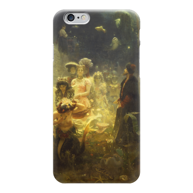 Чехол для iPhone 6 глянцевый Printio Садко (картина ильи репина)