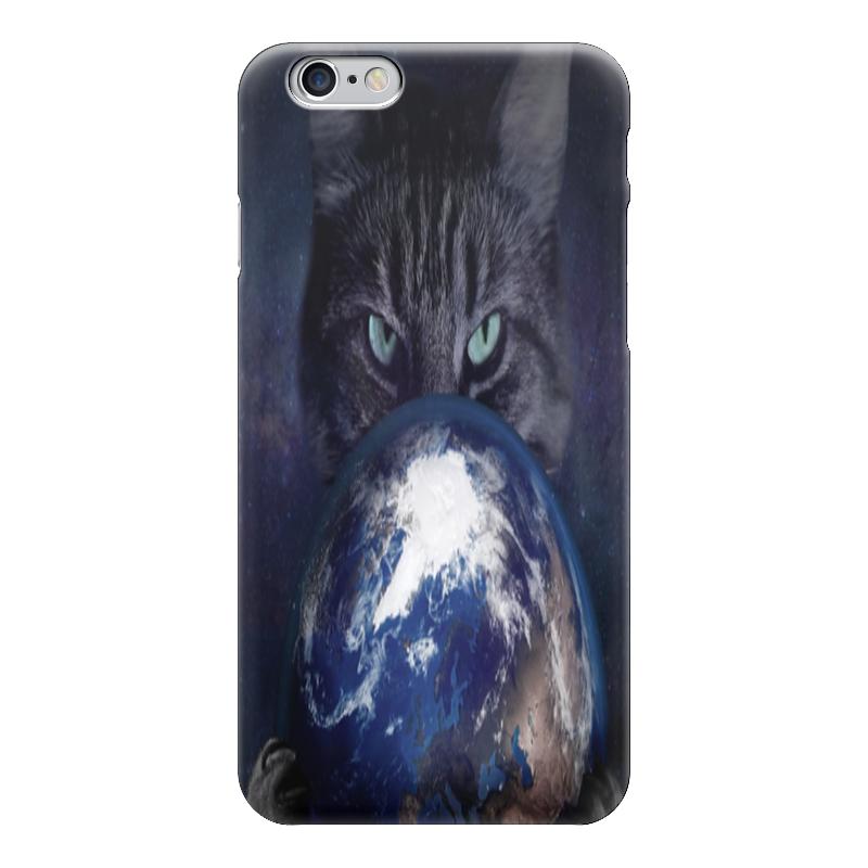 Чехол для iPhone 6 глянцевый Printio Земной шар в лапах у кошки для кошки