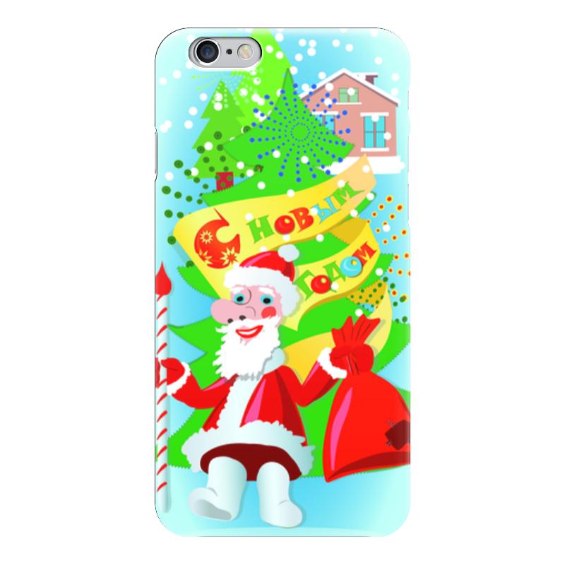 Чехол для iPhone 6 глянцевый Printio С новым годом (1) украшение новогоднее оконное magic time дед мороз с самоваром двустороннее 30 х 32 см