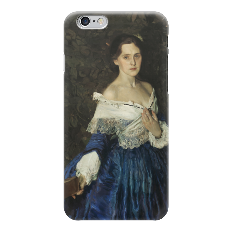 Чехол для iPhone 6 глянцевый Printio Дама в голубом (картина сомова) чехол для iphone 5 глянцевый с полной запечаткой printio дама в голубом картина гейнсборо