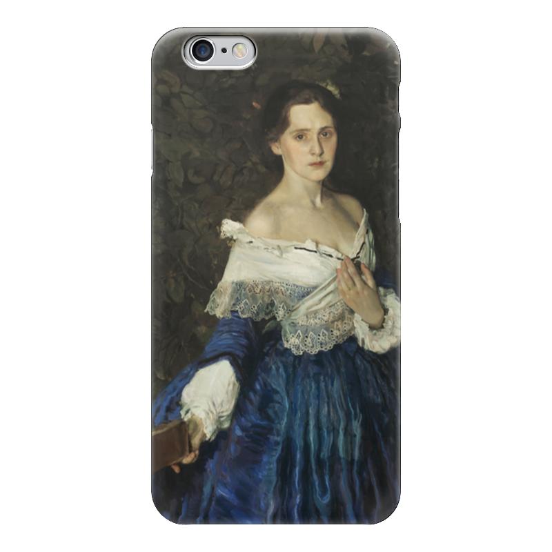 Чехол для iPhone 6 глянцевый Printio Дама в голубом (картина сомова) картины pavone картина дама картина
