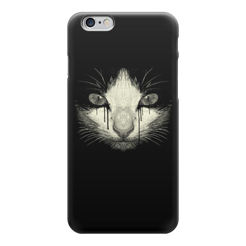 Чехол для iPhone 6 глянцевый Printio Cat night стоимость