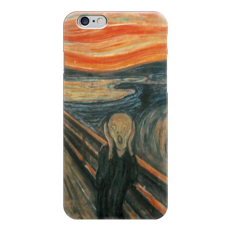 Чехол для iPhone 6 глянцевый Printio Крик (картина эдварда мунка) тетрадь на скрепке printio крик картина мунка