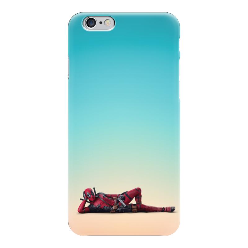 Чехол для iPhone 6 глянцевый Printio Deadpool чехол для iphone 6 глянцевый printio deadpool family