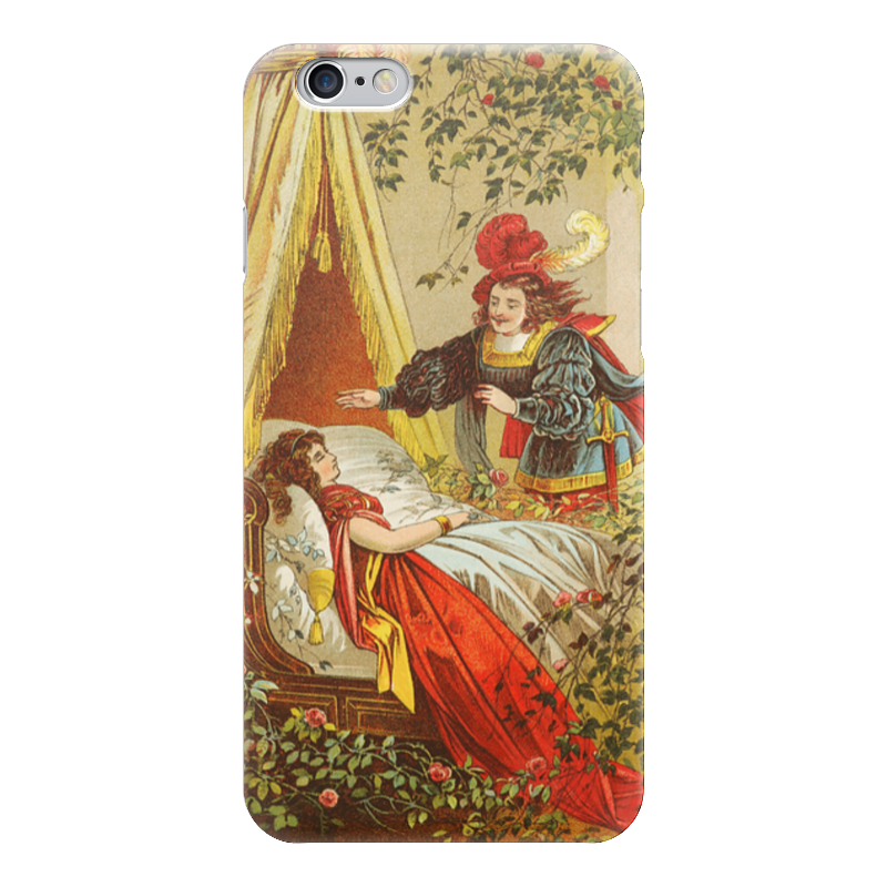 Чехол для iPhone 6 глянцевый Printio Спящая красавица (сказка) сувенир закладка спящая красавица набор 7 штук
