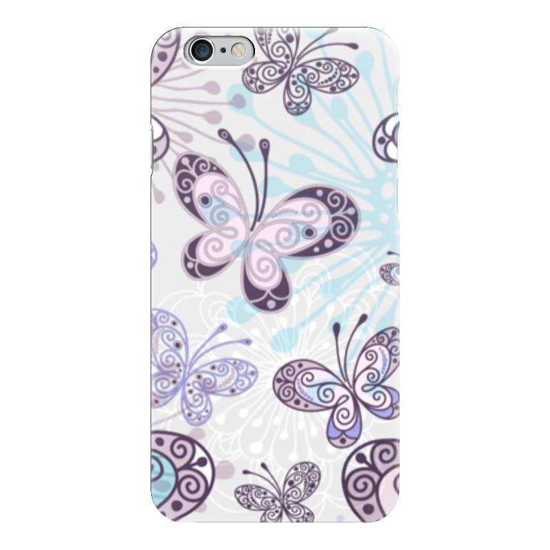 Чехол для iPhone 6 глянцевый Printio Фиолетовые бабочки какой iphone лучше для россии