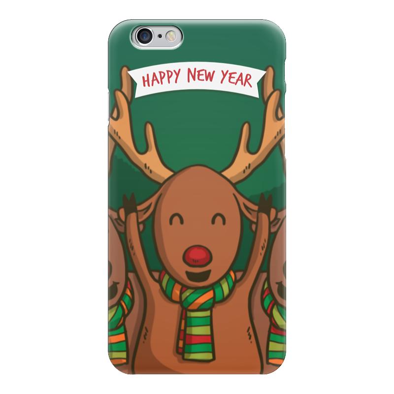 Чехол для iPhone 6 глянцевый Printio С новым годом! чехол