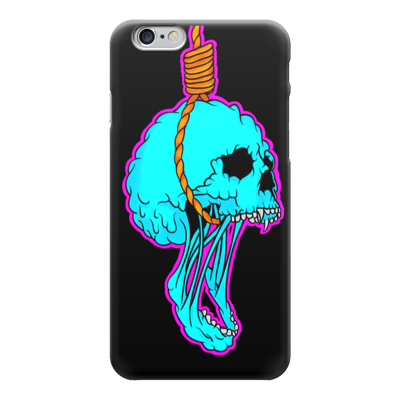 Чехол для iPhone 6 глянцевый Printio Noose skull смартфон micromax q346 lite coffee 4 5 854x480 fm радио bluetooth wi fi 3g android 5 1 1700 ма ч