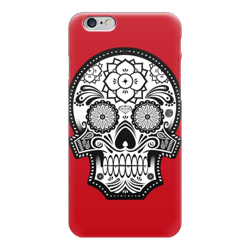 Чехол для iPhone 6 глянцевый Printio Santa muerte skull