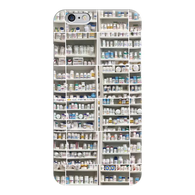 Чехол для iPhone 6 глянцевый Printio Shelves with pills b shelves
