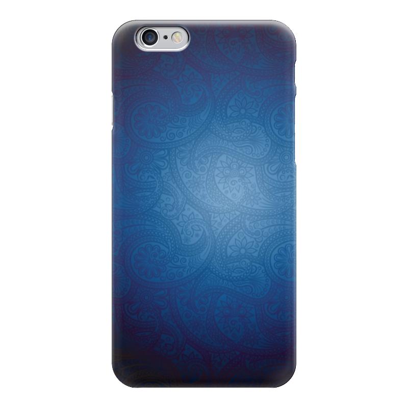 Чехол для iPhone 6 глянцевый Printio Синие огурчики чехол для карточек цветные совы на синем фоне дк2017 112