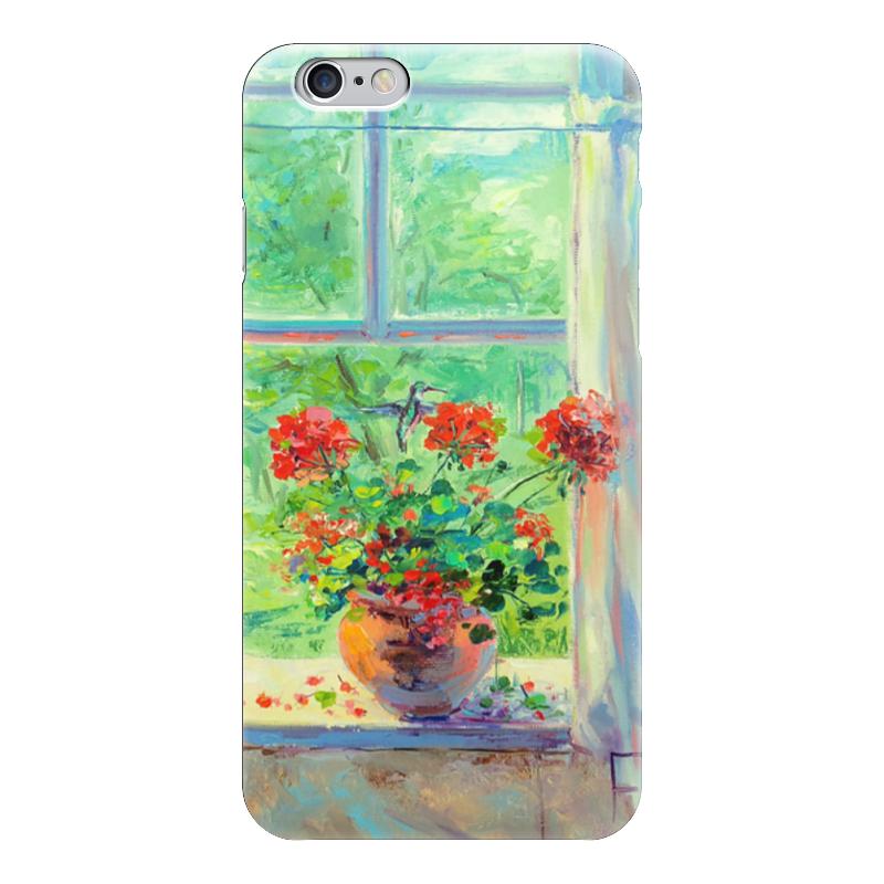 Чехол для iPhone 6 глянцевый Printio Герань чехол для iphone 6 глянцевый printio сад на улице корто сад на монмартре ренуар