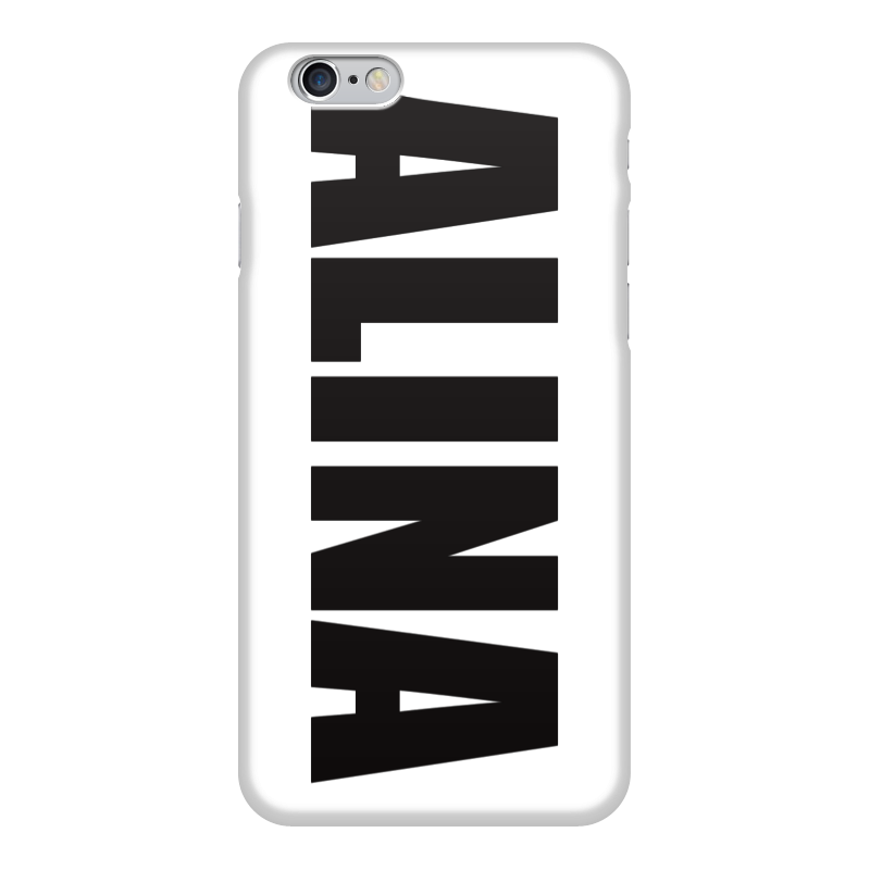Чехол для iPhone 6 глянцевый Printio С именем алина чехол для iphone 5 printio с именем алла