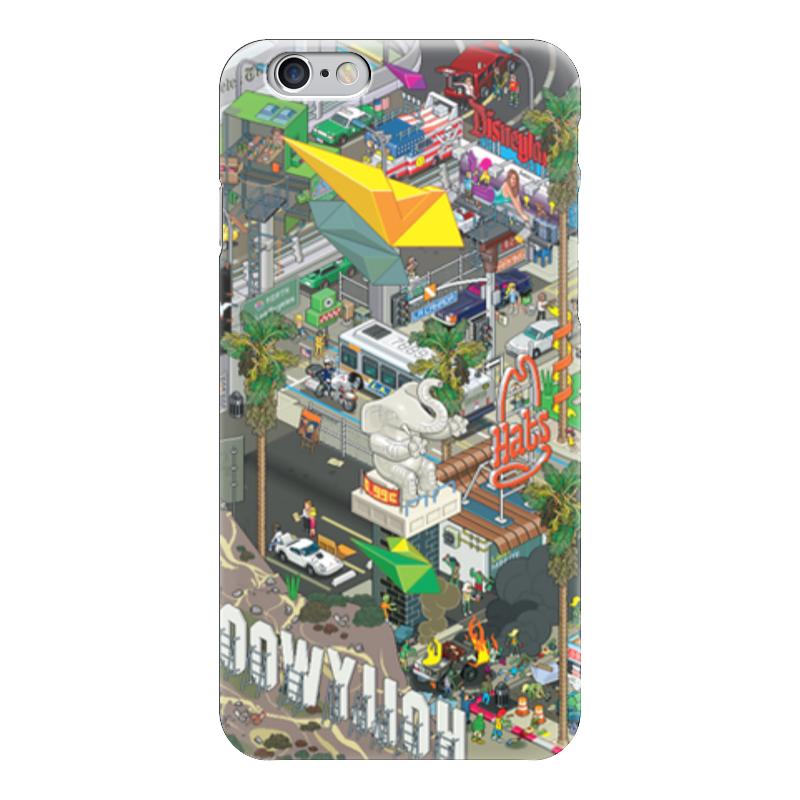 Чехол для iPhone 6 глянцевый Printio Лос-анджелес гербер кэтрин лос анджелес