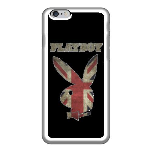 """Чехол для iPhone 6 """"Playboy Британский флаг"""" - playboy, плейбой, зайчик, великобритания, плэбой"""