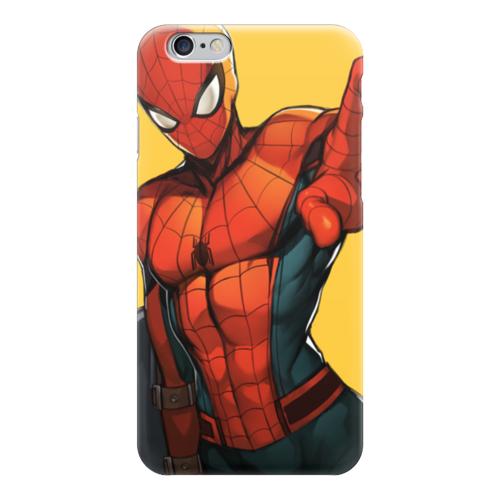 """Чехол для iPhone 6 """"Человек-паук (Spider-man)"""" - комиксы, питер паркер, civil war, гражданская война"""