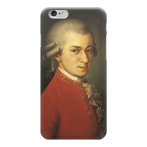 """Чехол для iPhone 6 """"Портрет Вольфганга Амадея Моцарта"""" - картина, крафт"""