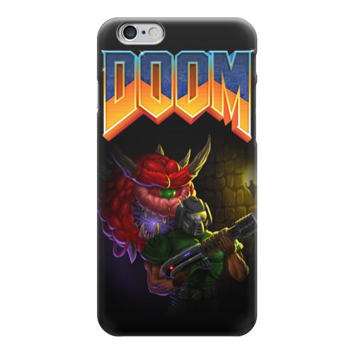 """Чехол для iPhone 6 """"Doom game"""" - игра, game, компьютерные игры, doom, дум"""