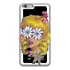 """Чехол для iPhone 6 глянцевый """"Без ума от цветов"""" - любовь, девушка, цветы, сердца, блондинка"""