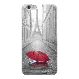 """Чехол для iPhone 6 """"Дождь в Париже"""" - дождь, зонт, франция, париж, эйфелевая башня"""