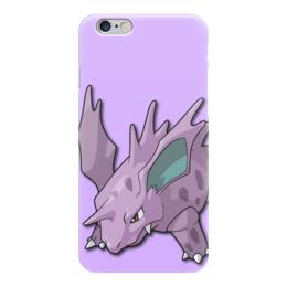 "Чехол для iPhone 6 ""Нидорино"" - нинтендо, nintendo, pokemon go, покемон го, nidorino"