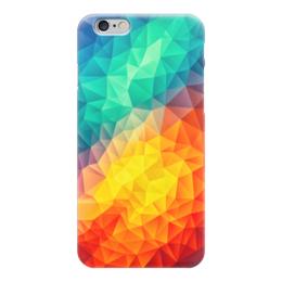 """Чехол для iPhone 6 """"Полигональная текстура"""" - абстракция, полигональная текстура"""