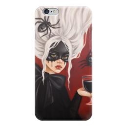 """Чехол для iPhone 6 """"Черная вдова"""" - готика, арт, девушка, мистика, паук"""