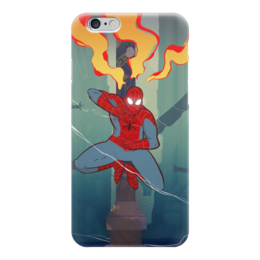 "Чехол для iPhone 6 ""Spiderman"" - супергерои, spiderman, человек-паук"