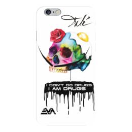 "Чехол для iPhone 6 глянцевый ""Череп Дали"" - арт, dali, усы дали, сальвадор дали, skull"