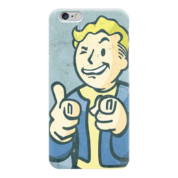 "Чехол для iPhone 6 ""Vault boy"" - fallout, vault boy, волт-бой"