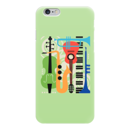 "Чехол для iPhone 6 ""Музыкальные инструменты"" - музыка, гитара, скрипка, инструменты, саксафон"