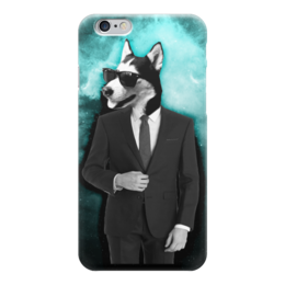 "Чехол для iPhone 6 ""Майк в костюме"" - собака, костюм"
