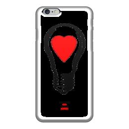 """Чехол для iPhone 6 """"LAMP! SWITCH ON YOUR LOVE!"""" - сердце, любовь, love, лампа, hans zogs"""