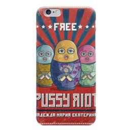"""Чехол для iPhone 6 """"Pussy Riot"""" - музыка, любовь, арт, матрешка, матрёшки, личность, россия, девочки, политика, свобода"""
