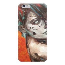 """Чехол для iPhone 6 """"Skull girl"""" - skull, череп, девушка, смерть, santa muerte"""