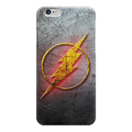 "Чехол для iPhone 6 глянцевый ""Флэш (The Flash)"" - logo, комиксы, молния, speed, флеш, hero, вспышка, the flash, dc universe"