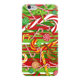 """Чехол для iPhone 6 """"Карамельное настроение"""" - конфеты, рождество, карамель"""