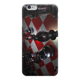 "Чехол для iPhone 6 ""шахматы"" - спорт, стекло, шахматы"