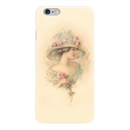 "Чехол для iPhone 6 ""Леди и роза"" - девушка, цветы, роза, винтаж, леди"