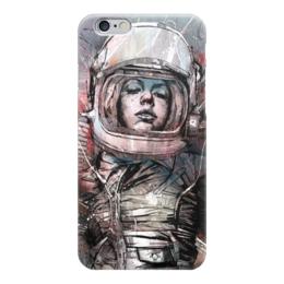 """Чехол для iPhone 6 """"Космо"""" - девушка, глаза, лицо, космос, космонавт"""