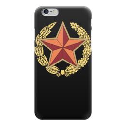 """Чехол для iPhone 6 """"Красная Звезда"""" - супер, ссср, россия, подарок"""