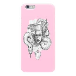 "Чехол для iPhone 6 глянцевый ""Адам бьюти"" - draw, pink, рисунок, розовый"
